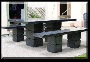Gardencrete Concrete Products Outside Table